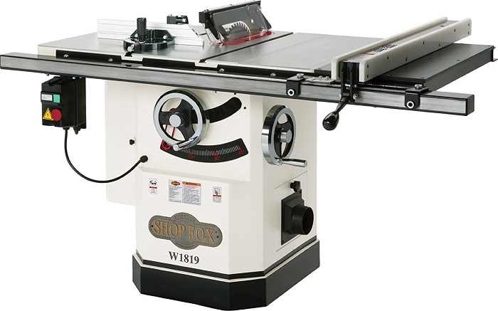shop fox W1819 cabinet table saw
