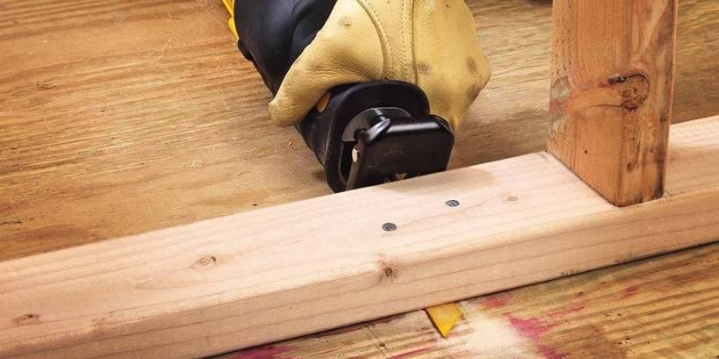 cut nail embedded wood