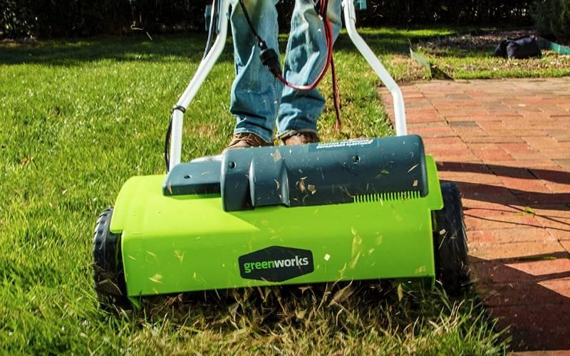 Greenworks 14 inch dethatcher