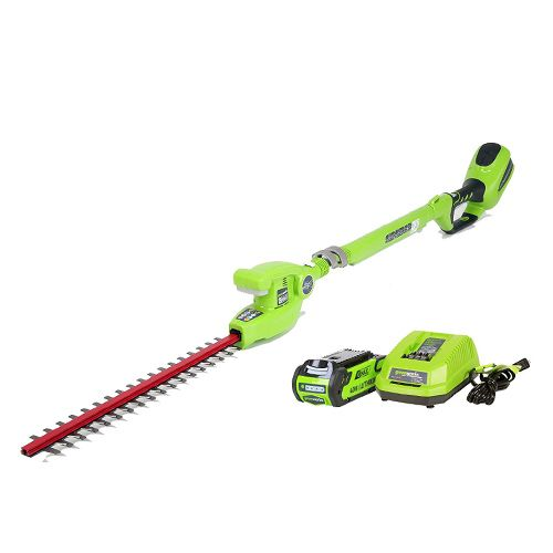greenworks telescopic hedge trimmer