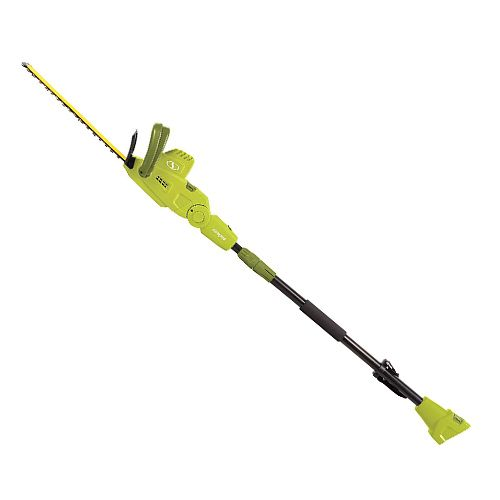 sun joe sjh904e telescopic pole hedge trimmer