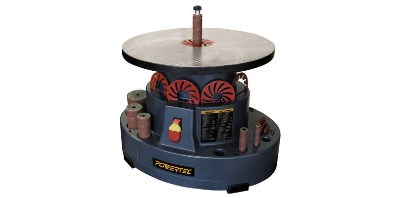 powertec os1000 benchtop oscillating spindle sander