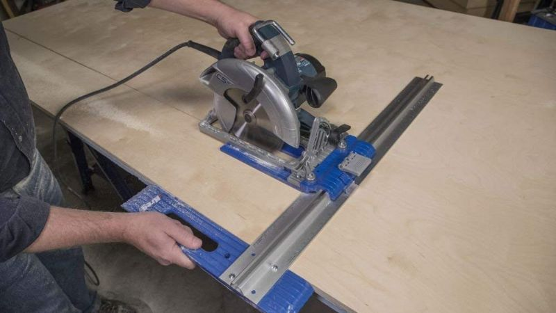 circular saw guide to help you make straight cuts with a circular saw