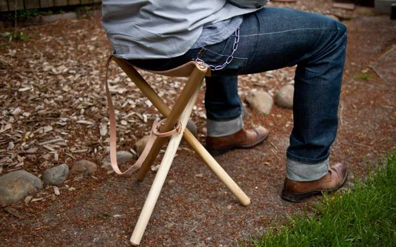 folding tripod camping stool woodworking project