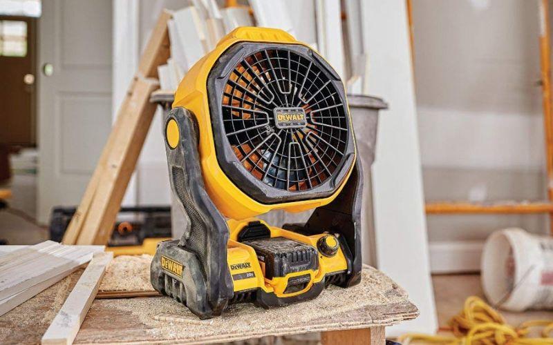 dewalt battery powered jobsite fan