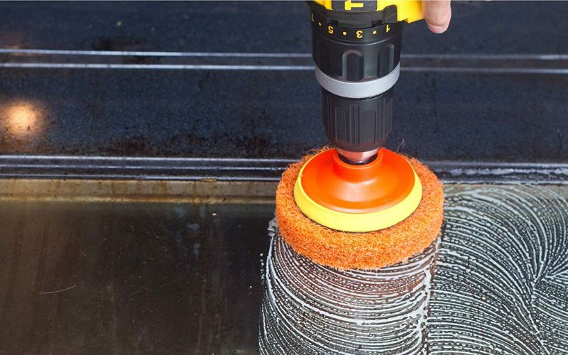 drill brush and scrubber