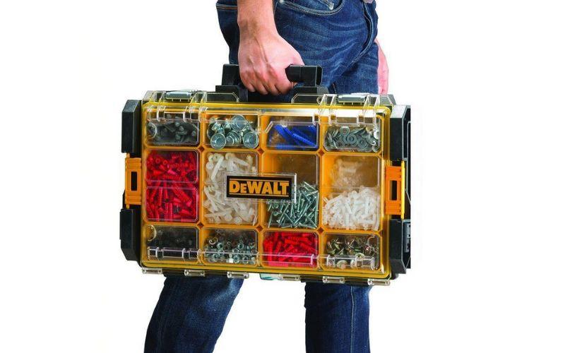 dewalt tough system clear-lid organizer