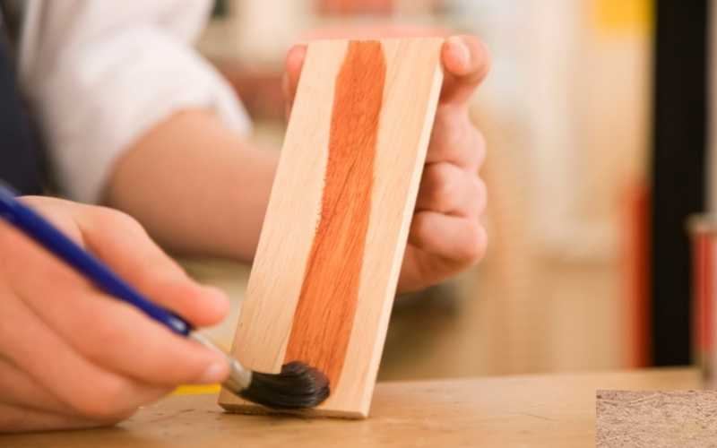 stain highlights wood grain