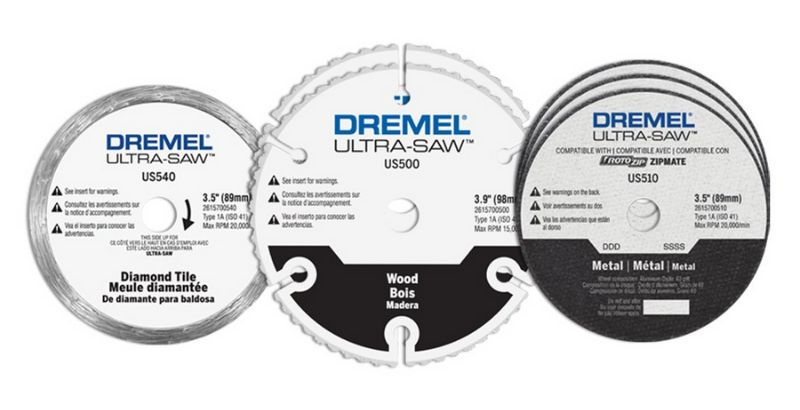 the Dremel Ultra saw blades or cutting wheels