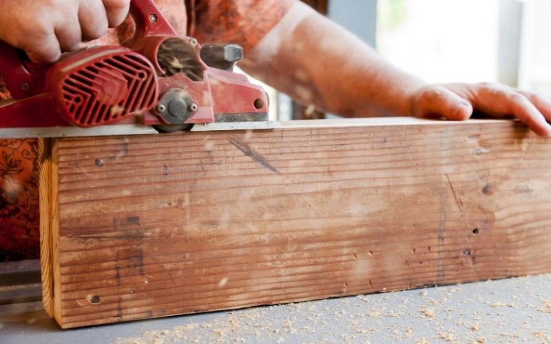 planing thick lumber with hand planer