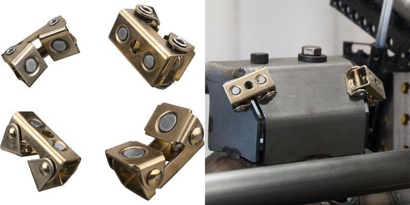 adjustable magnetic v-pads