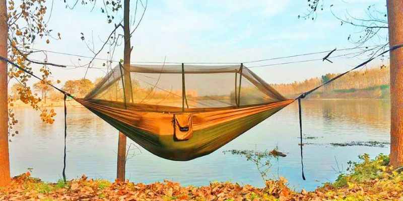 single and double camping hammock