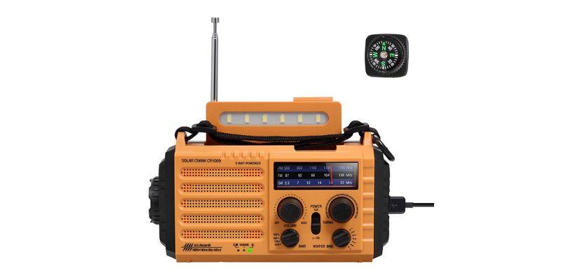 solar hand cranked radio