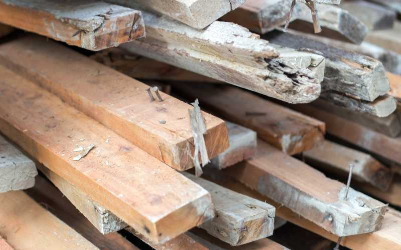 inspect reclaimed wood for nails
