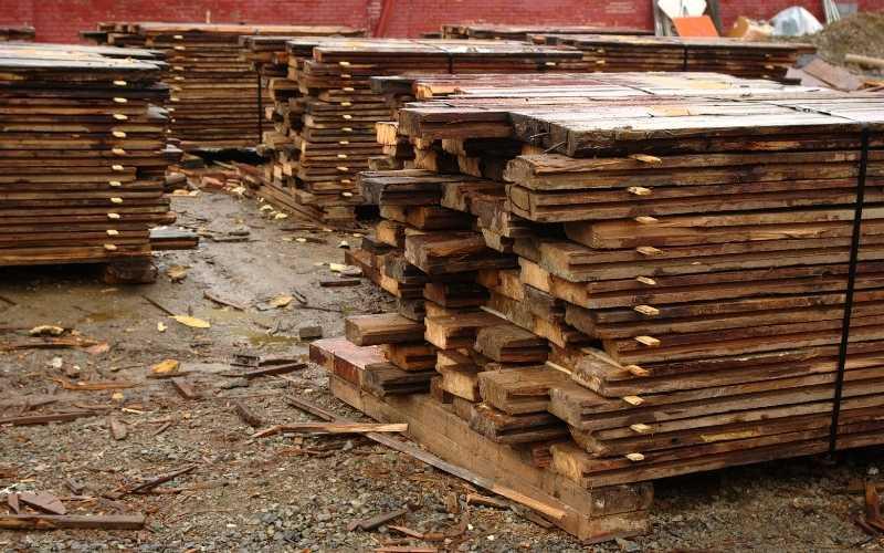 reclaimed lumberyard